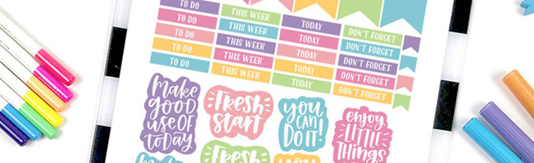picture regarding Free Printable Stickers for Planners named No cost Printable Motivational Planner Stickers