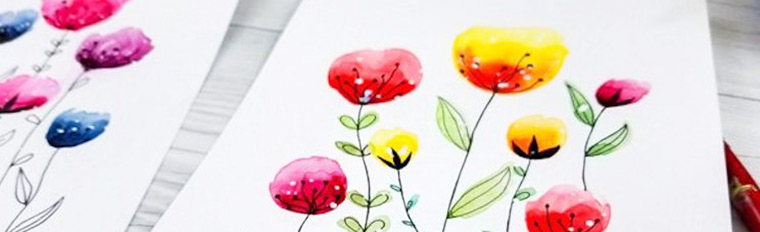 12 Easy Watercolour Painting Tutorials
