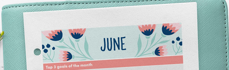 June 2018 Free Printable Monthly Planner