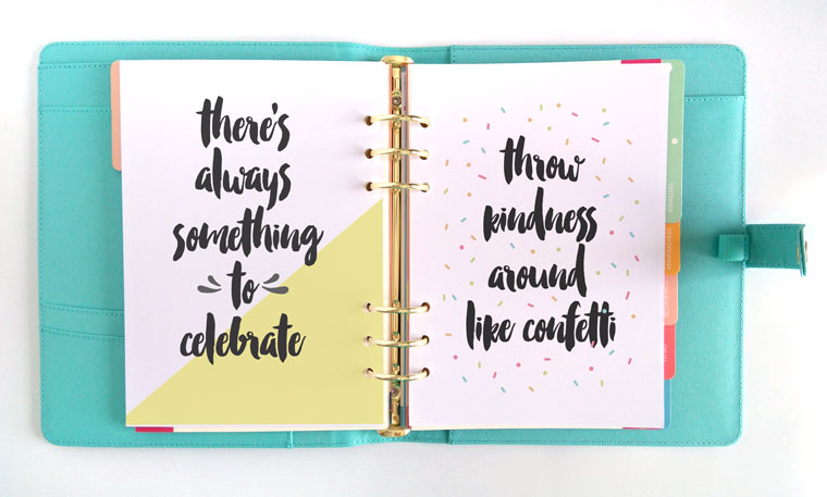 free printable motivational quotes for planners
