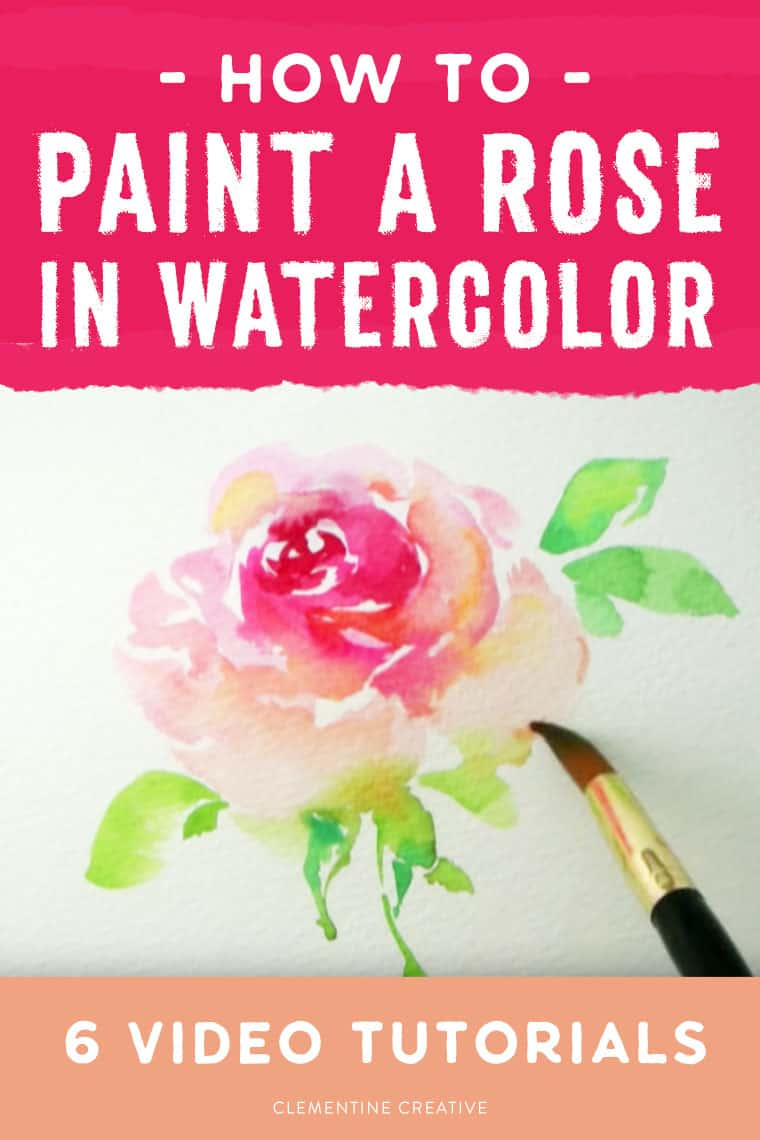 how to paint a loose watercolor rose