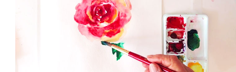 How to Paint a Loose Rose in Watercolour: 6 Video Tutorials