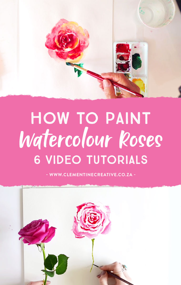 learn to paint a loose watercolor rose