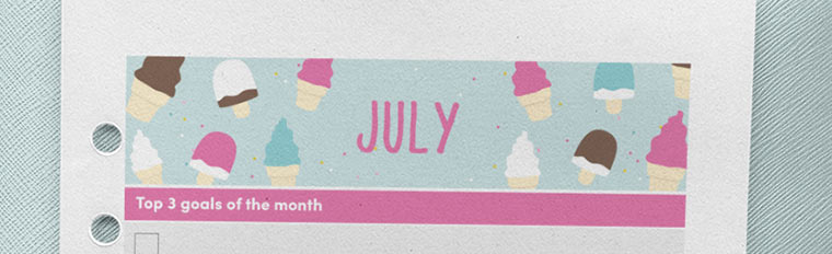 July 2018 {Free Printable Monthly Planner}