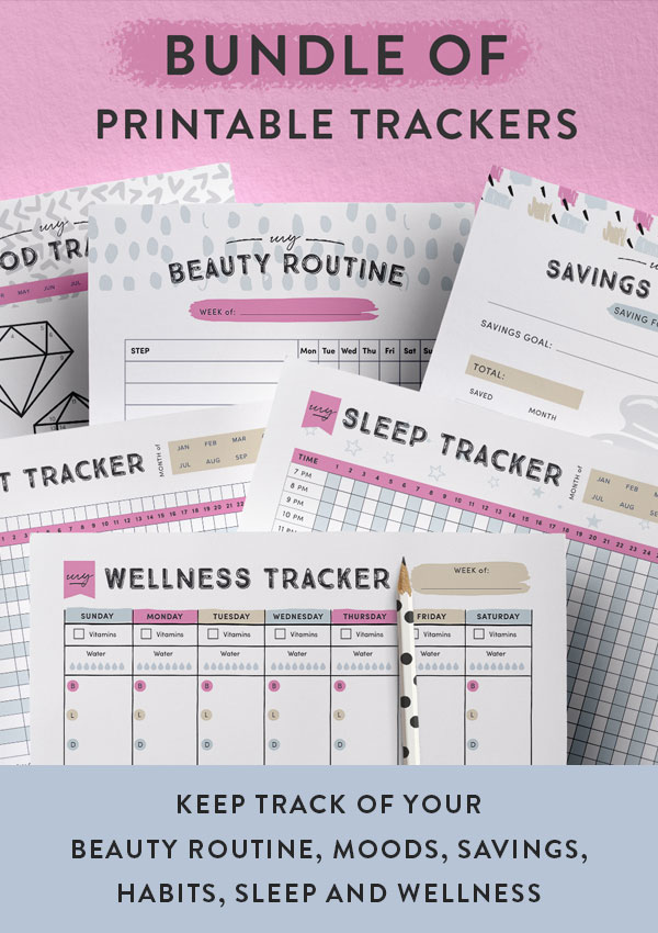 printable tracker pages for your planner