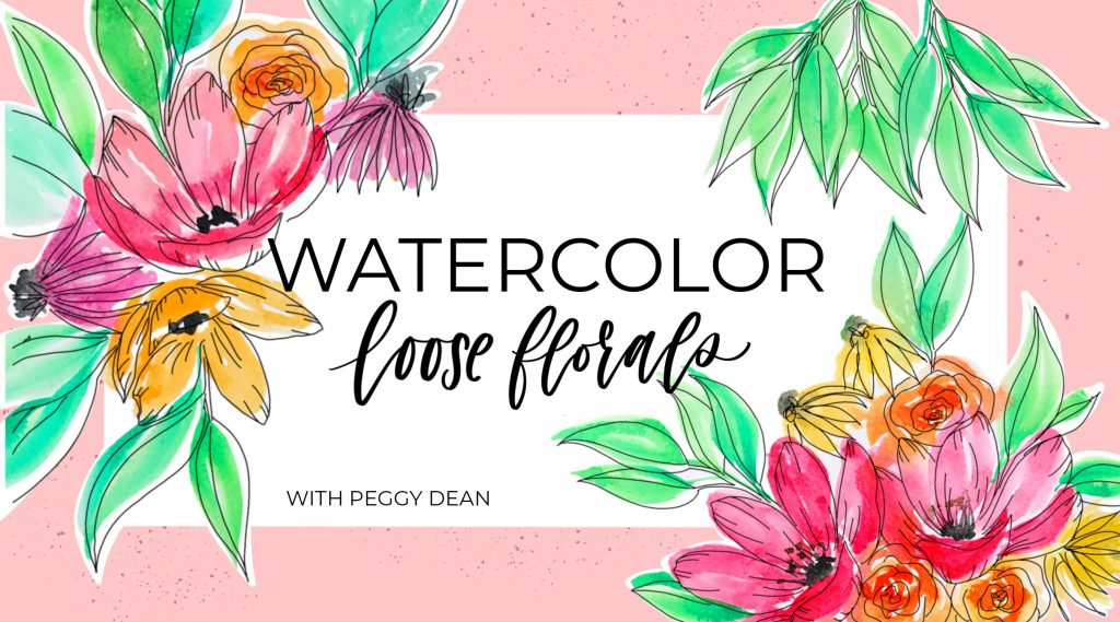 how to paint loose watercolour florals