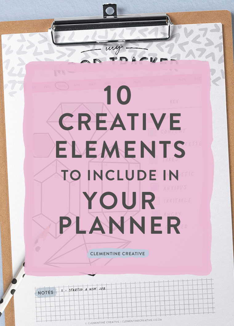 Wondering what you can include in your planner? Here are 10 creative ideas to make planning fun. Including, habit trackers, mood trackers, inspiration, and more.