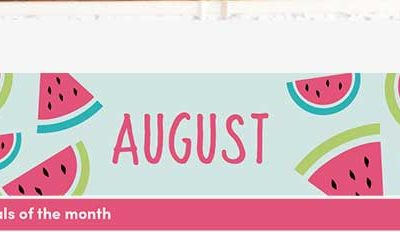 August 2018 {Free Printable Monthly Planner}