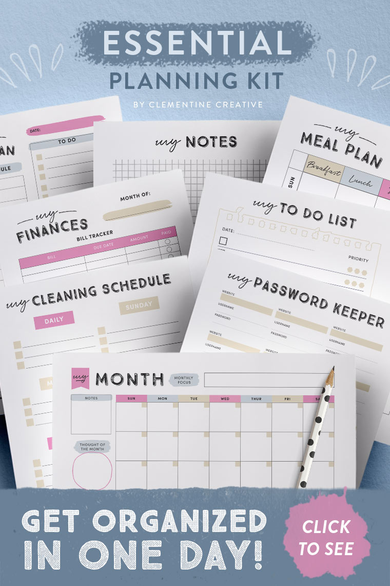 printable planning pages