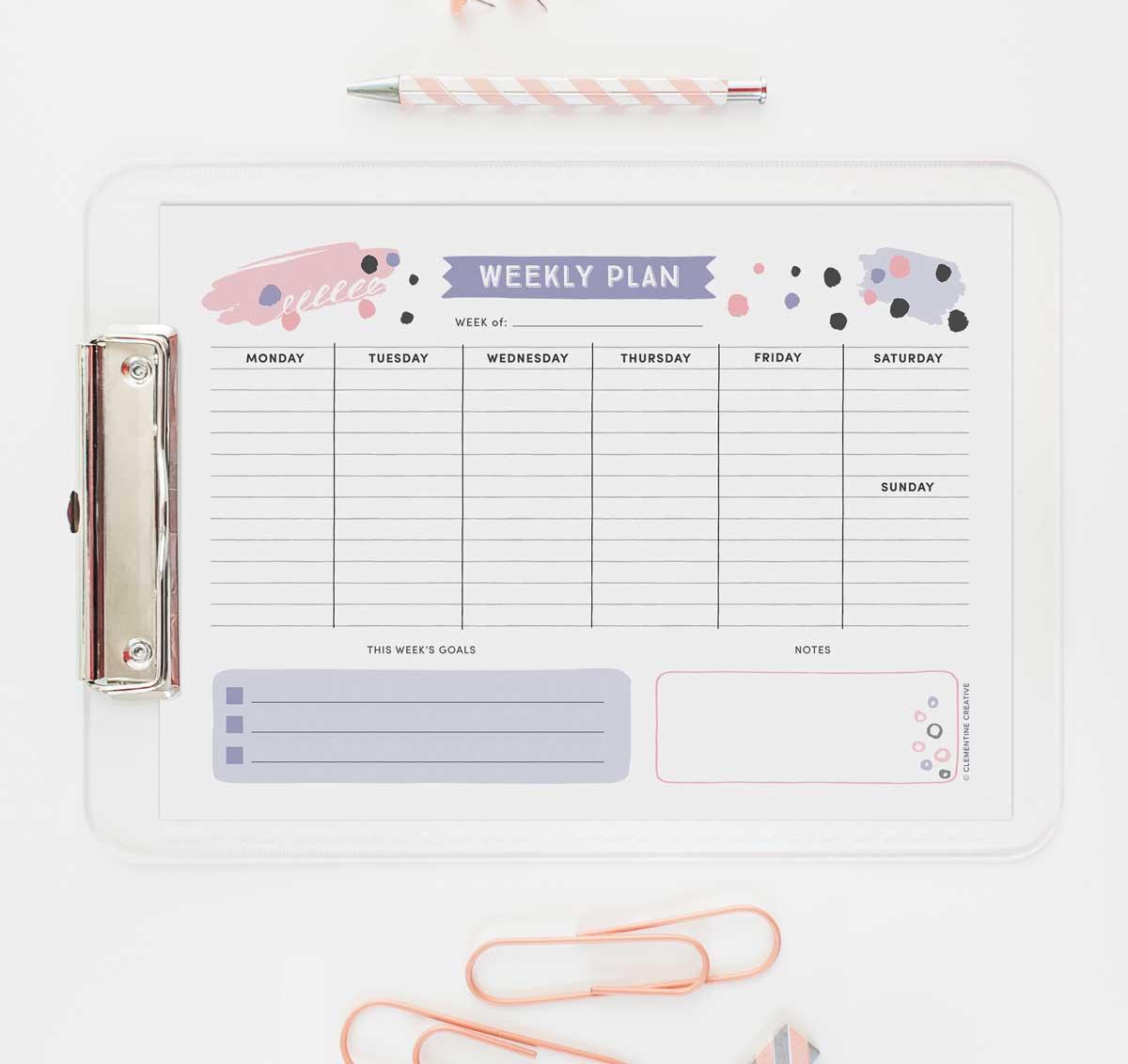 Get Organised with this Free Printable Weekly Planner   Cute ...