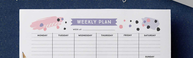 image relating to Free Weekly Planner called Buy Organised with this Cost-free Printable Weekly Planner - Adorable