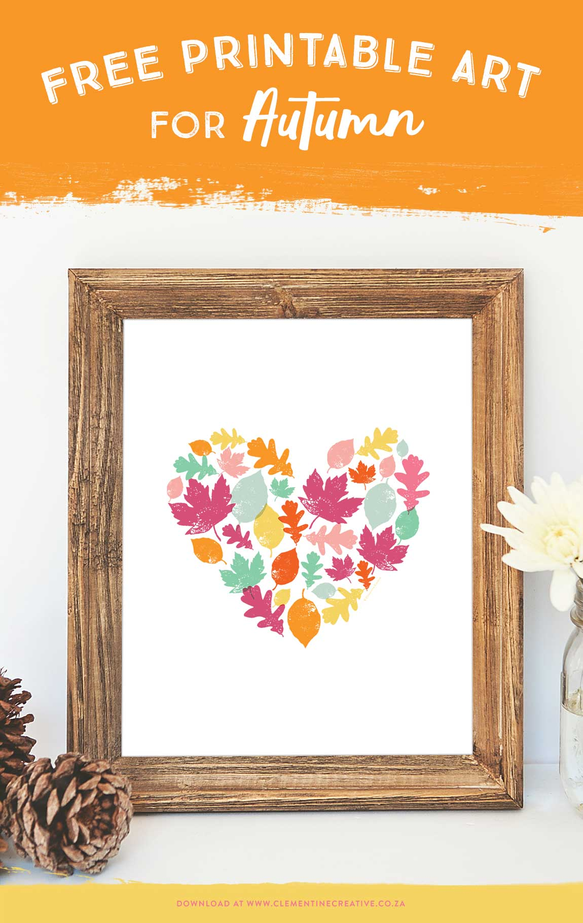 Decorate your home for autumn with this free autumn leaves art print! Make this Fall your best season ever. Click here to download this free printable autumn leaves art print