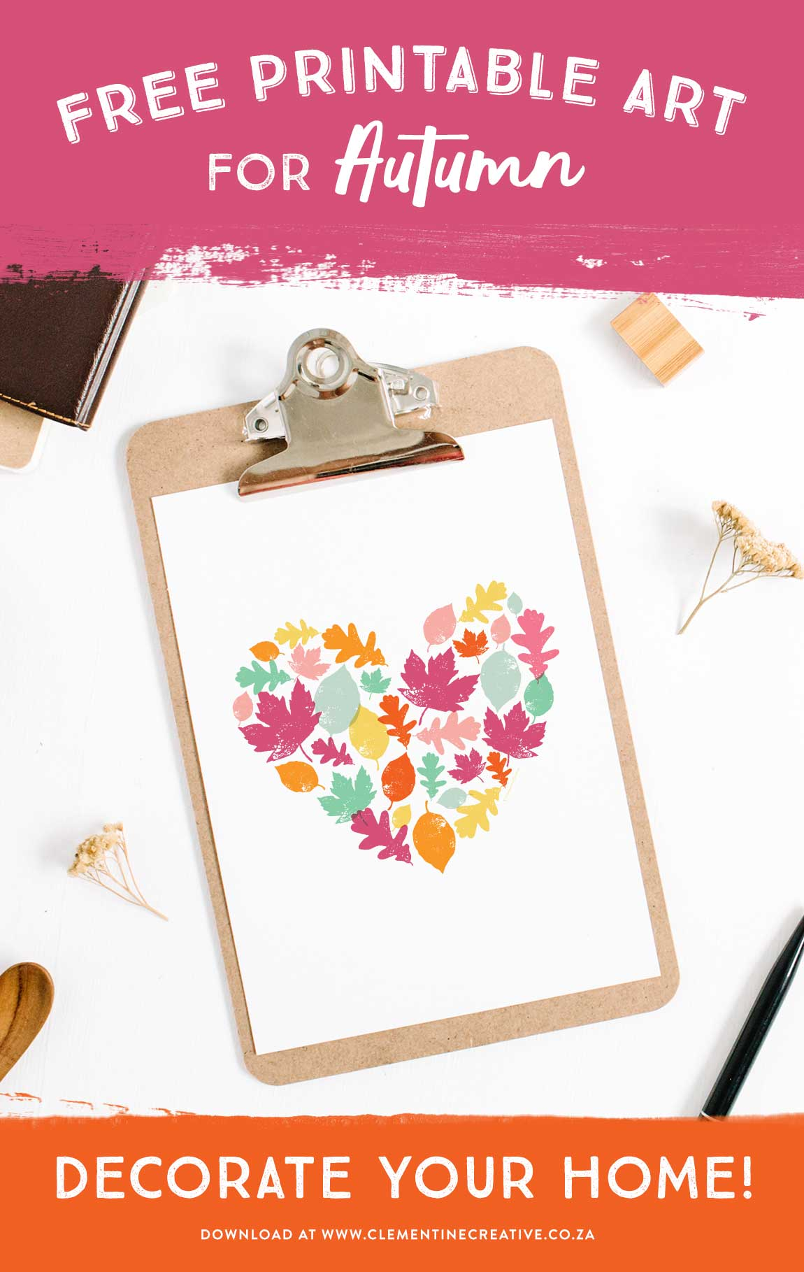 Decorate your home for Fall with this free printable Autumn leaves art print. Click here to download.