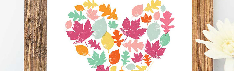 Autumn Leaves Art Print – Free Printable Art for your Home