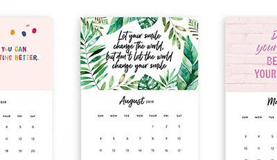 Printable 2019 Motivational Desk Calendars are here!