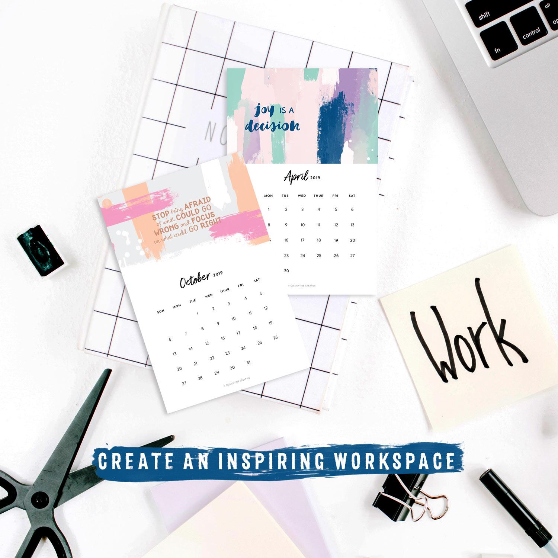 Printable 2019 Motivational Desk Calendar To Inspire You Every Month