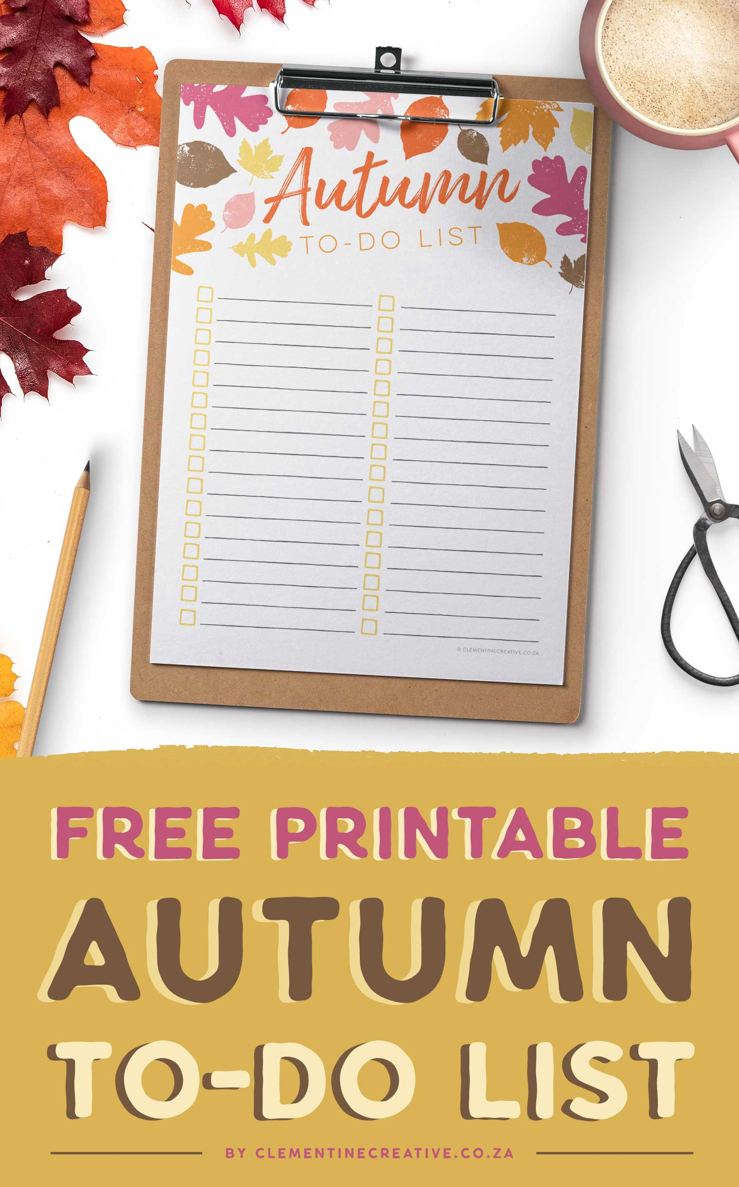 Free printable Autumn and Fall to-do list