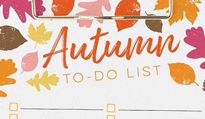 Free Printable Autumn To-Do List