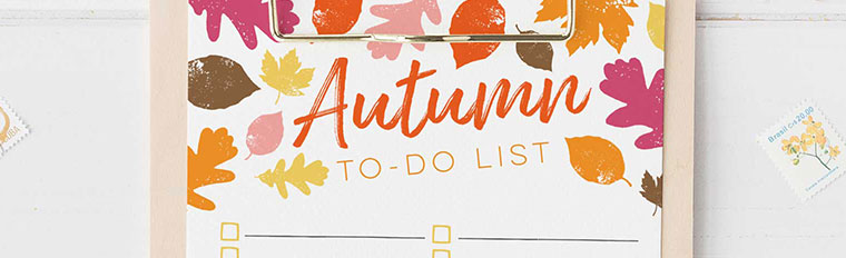 autumn to do list printable