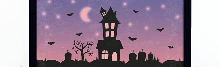 Haunted House Halloween Wallpaper for your Desktop, Phone, and Tablet