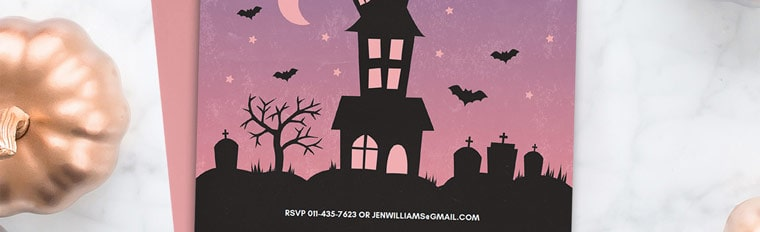 Free Printable Halloween Party Invitation {Haunted House}