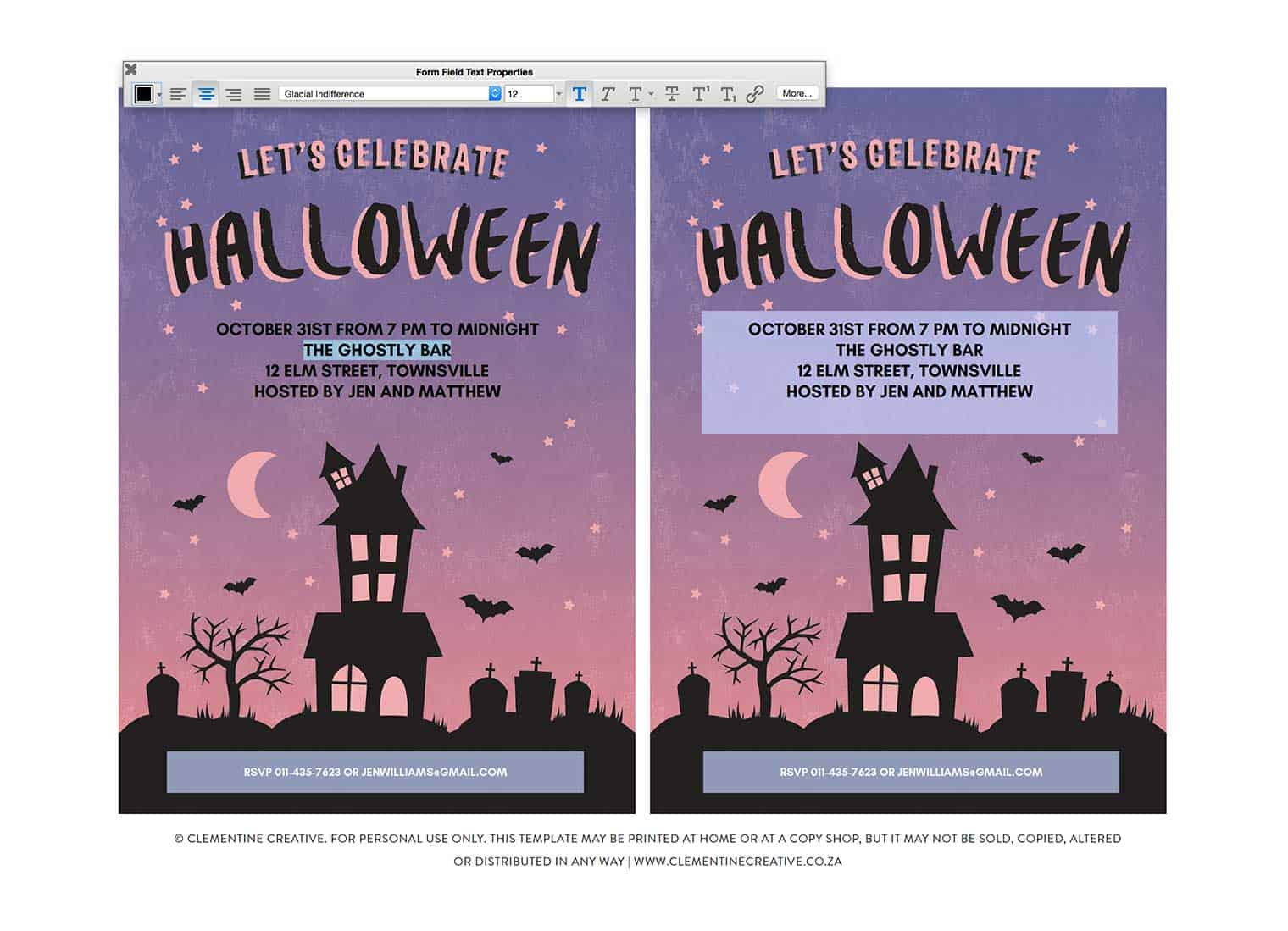 free printable halloween party invitation haunted house. Black Bedroom Furniture Sets. Home Design Ideas