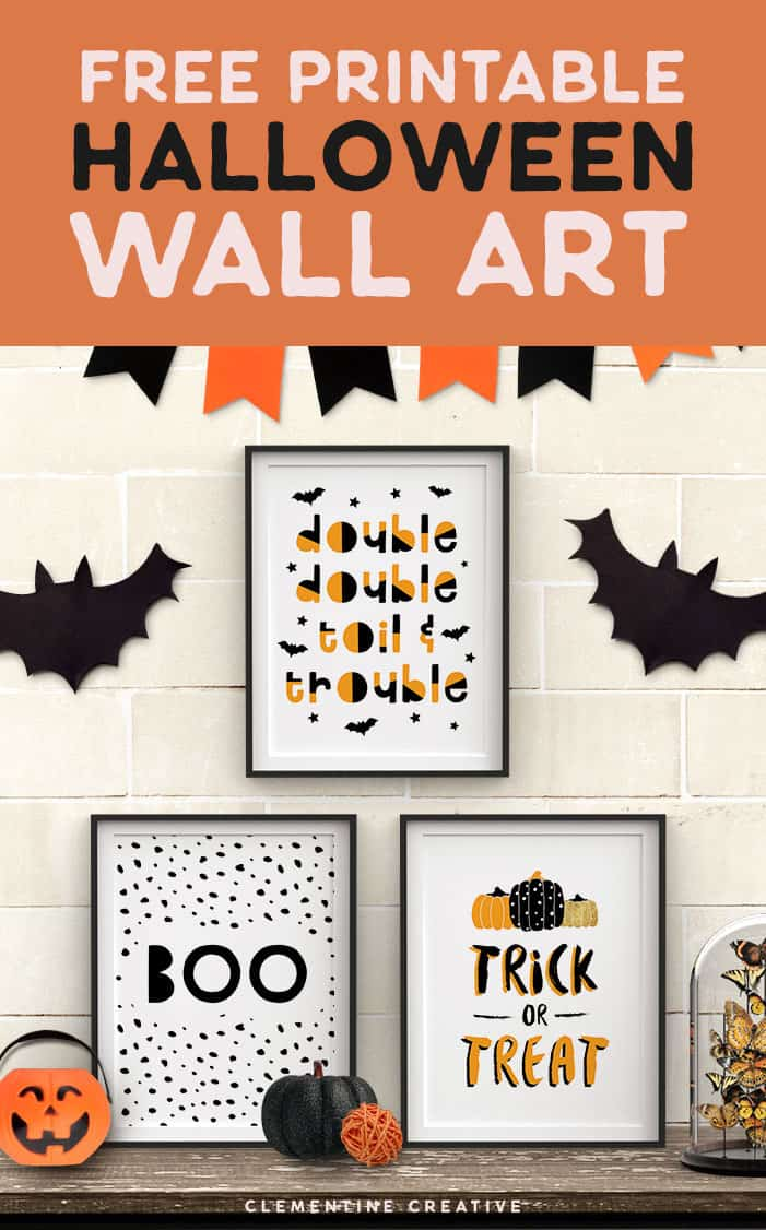 image about Halloween Signs Printable identified as Cost-free Printable Halloween Wall Artwork -Progressive prints for your