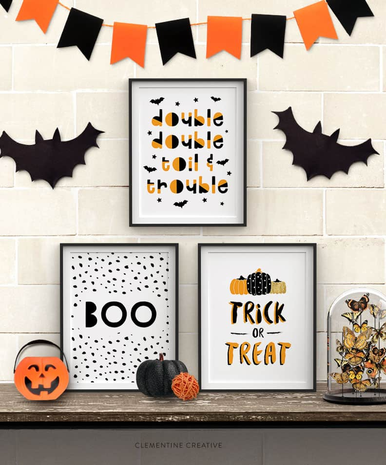free printable Halloween wall art decor