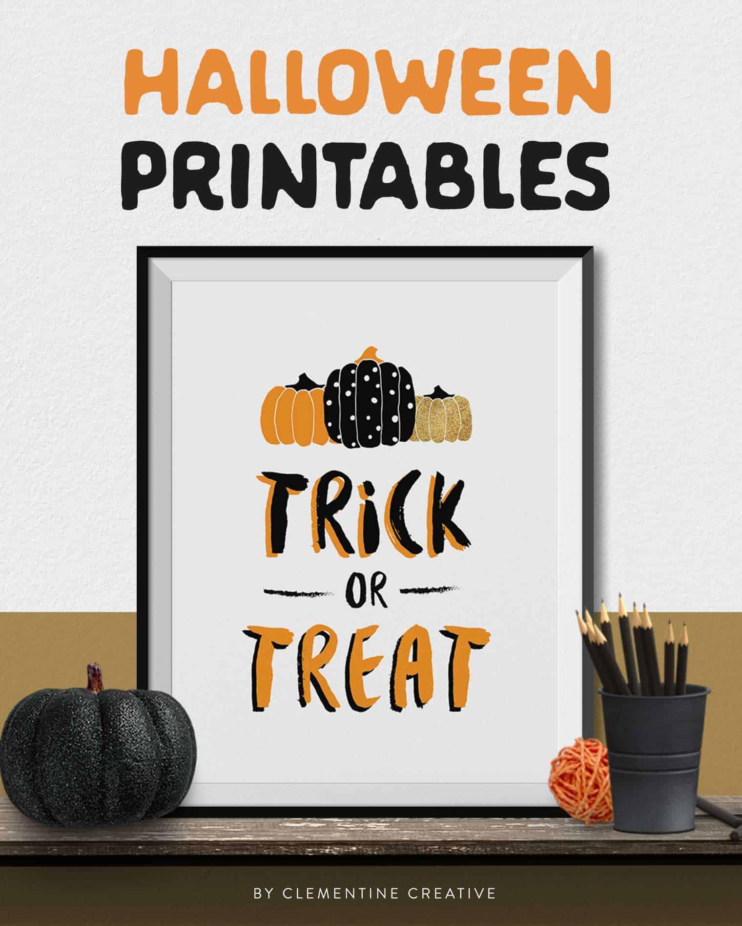 Free Printable Halloween Wall Art -Modern prints for your ...
