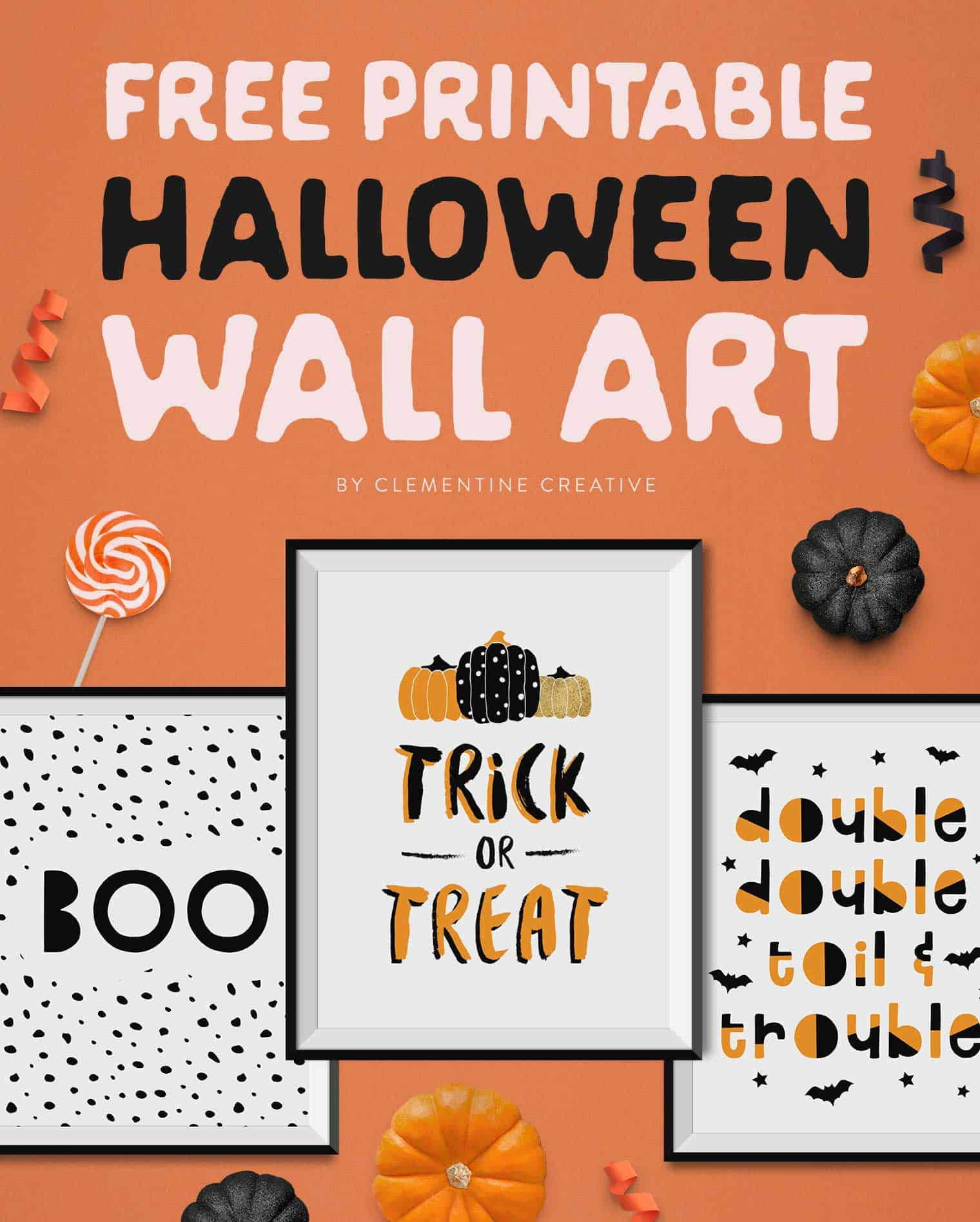 free Halloween wall art printables