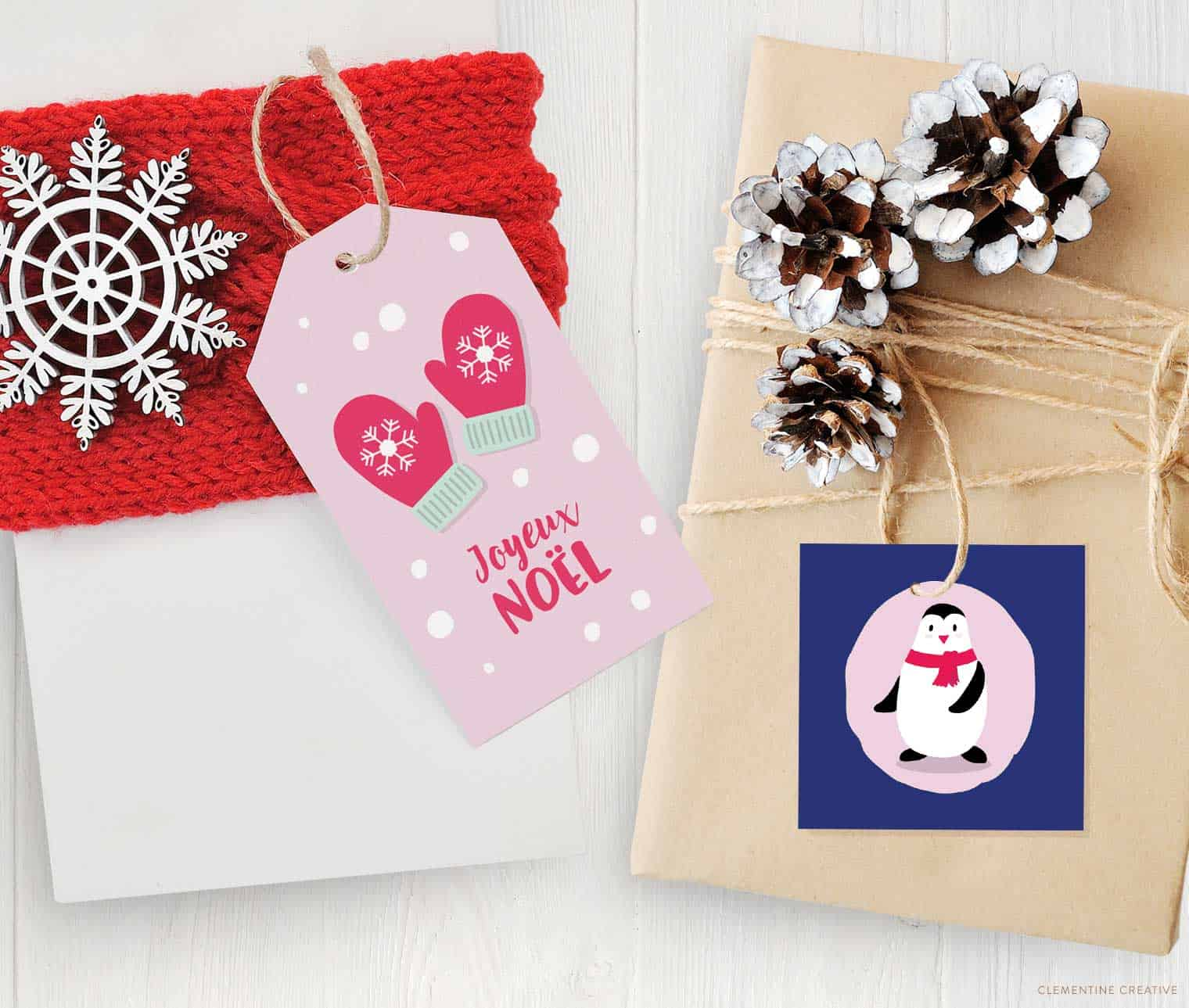 free printable adorable Christmas gift tags