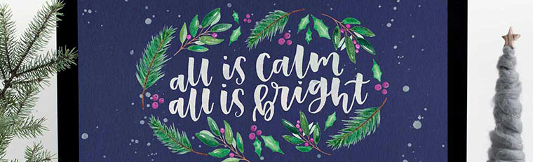 free christmas desktop wallpaper all is calm feat
