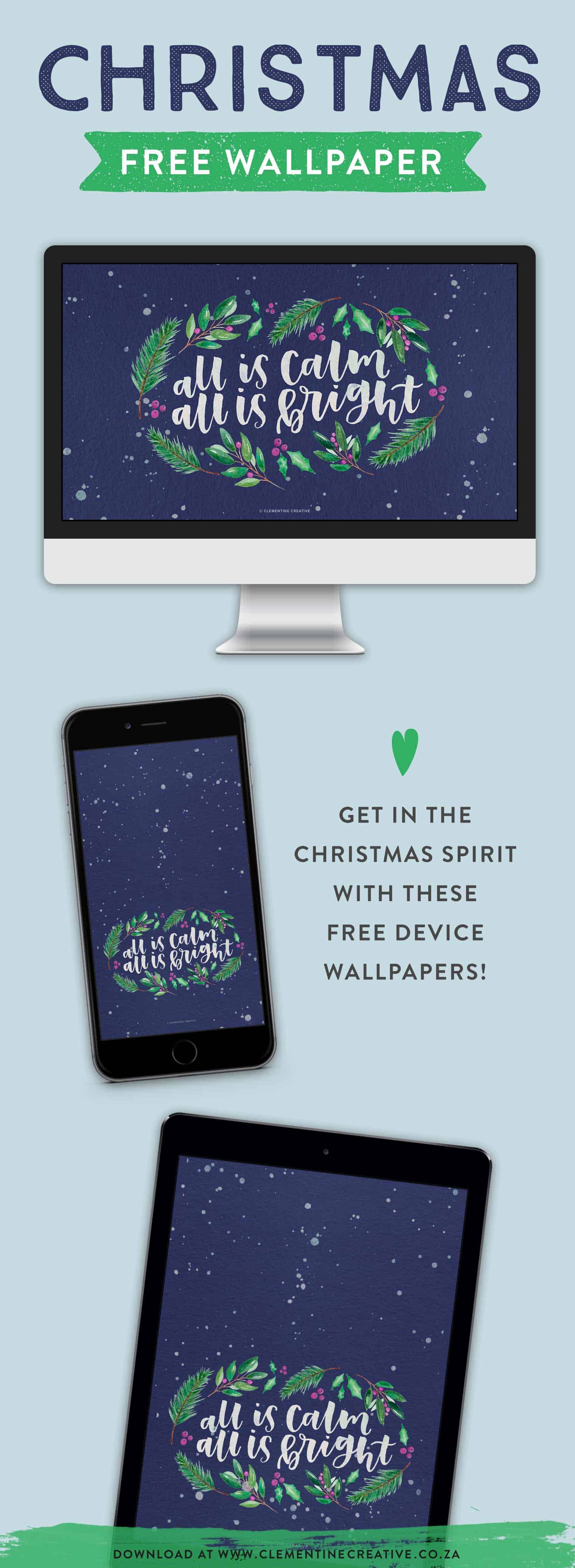 free Christmas backgrounds for tech devices