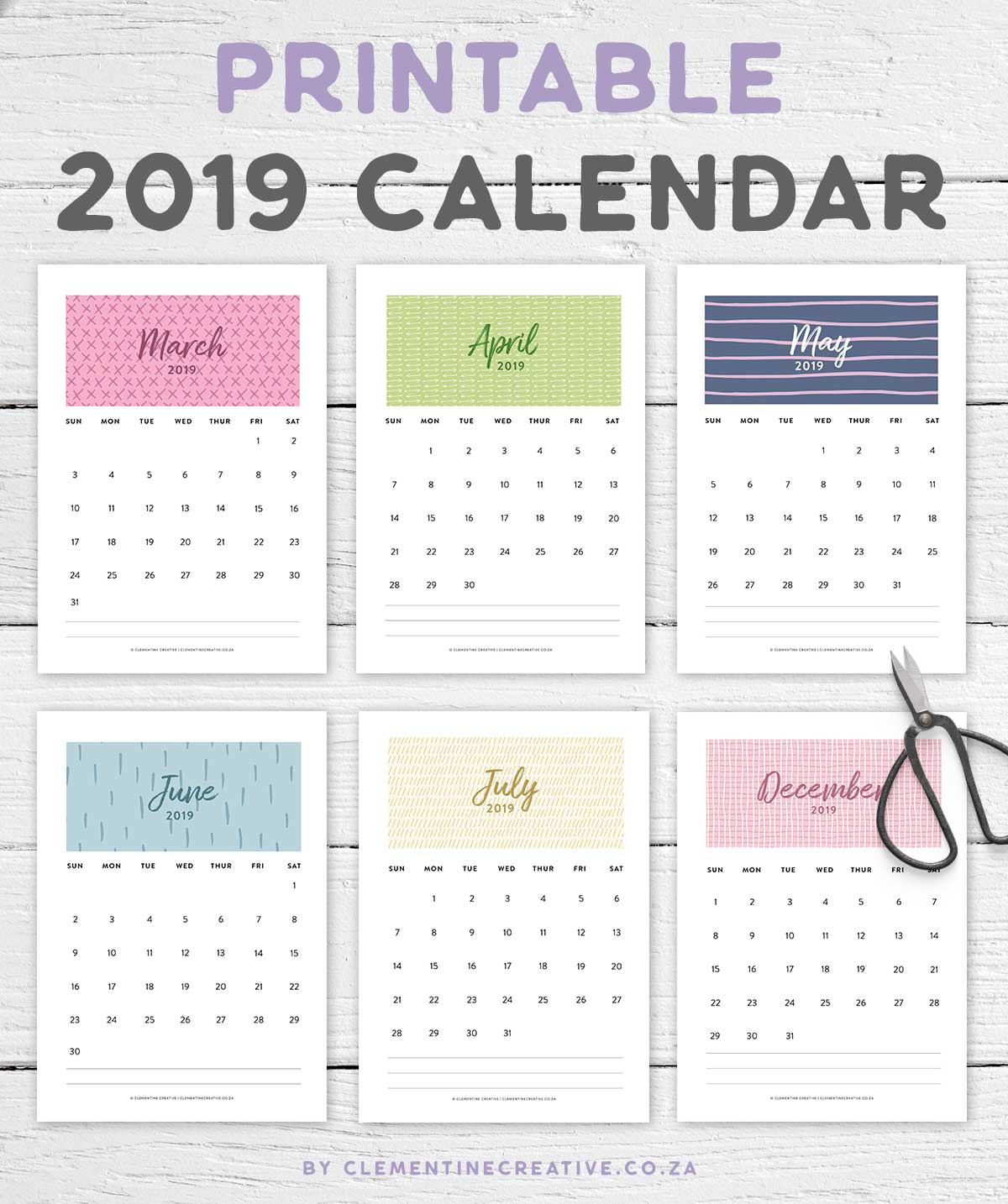 photo regarding Pretty Printable Calendar known as Printable 2019 Calendar A Very Month to month Calendar