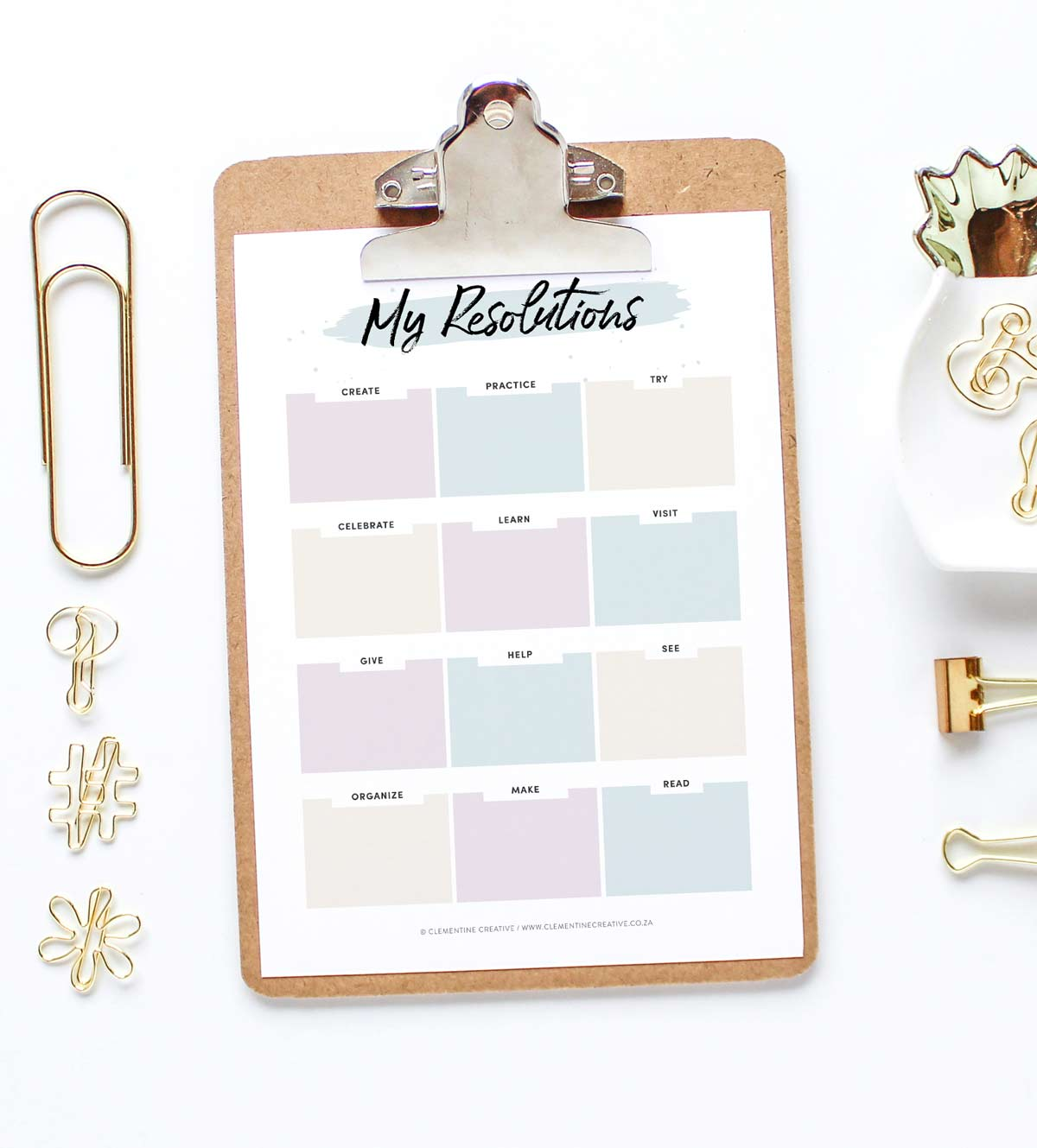 free printable new years resolution worksheet