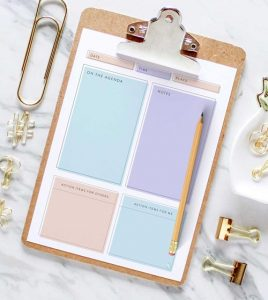 feminine meeting agenda template