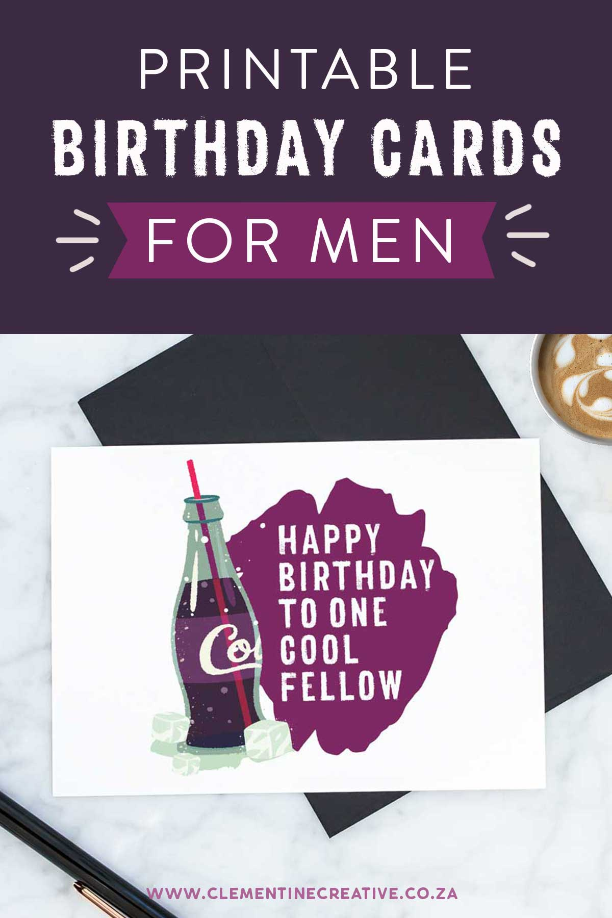 Printable Birthday Cards For Him Premium Stay Cool