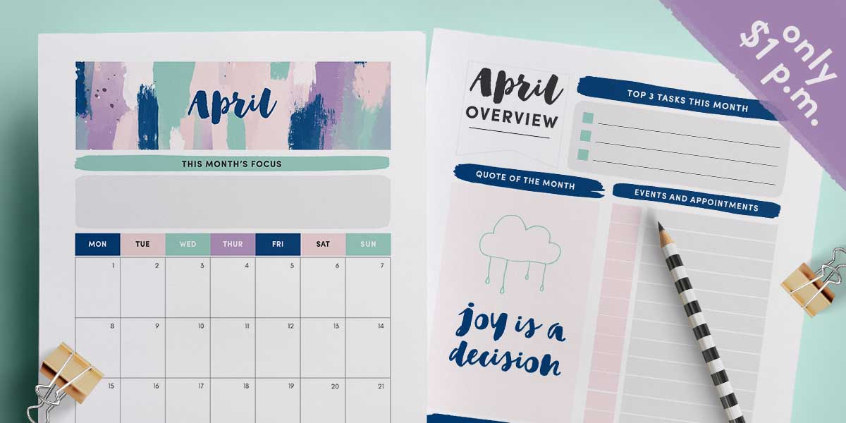april 2019 monthly planner