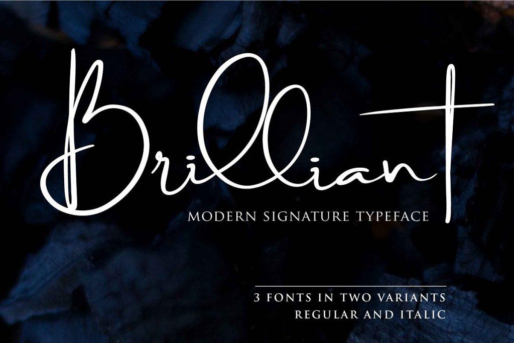 modern signature typeface