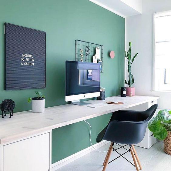 green scandi workspace