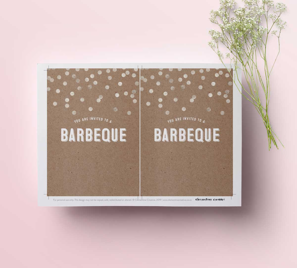 picture regarding Free Printable Bbq Invitations referred to as Toss a Elegant Barbeque Get together With This Stunning Invitation