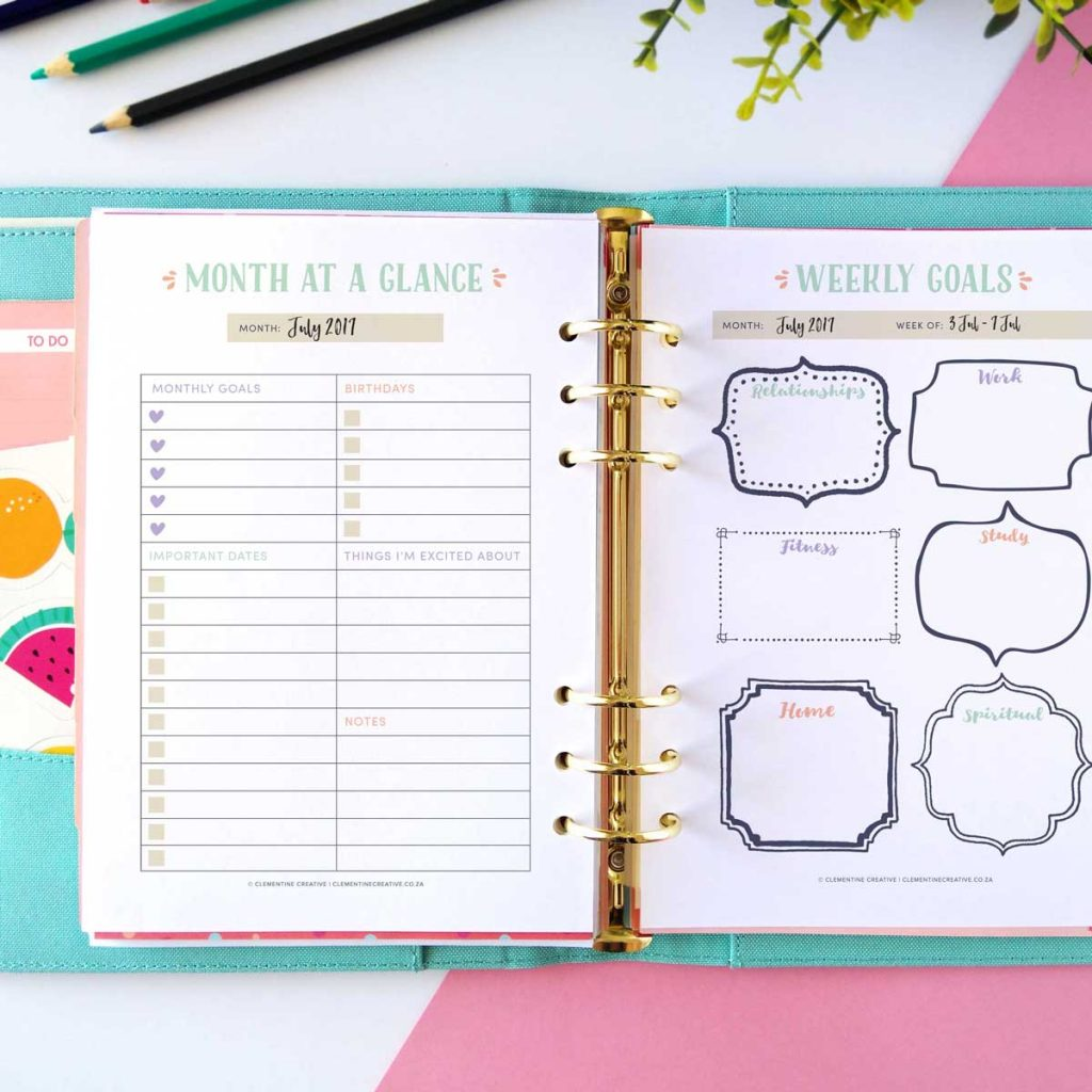 picture regarding Full Focus Planner Pdf referred to as No cost Printable Daily life Planner 25 Webpages That Will Guidance By yourself Purchase