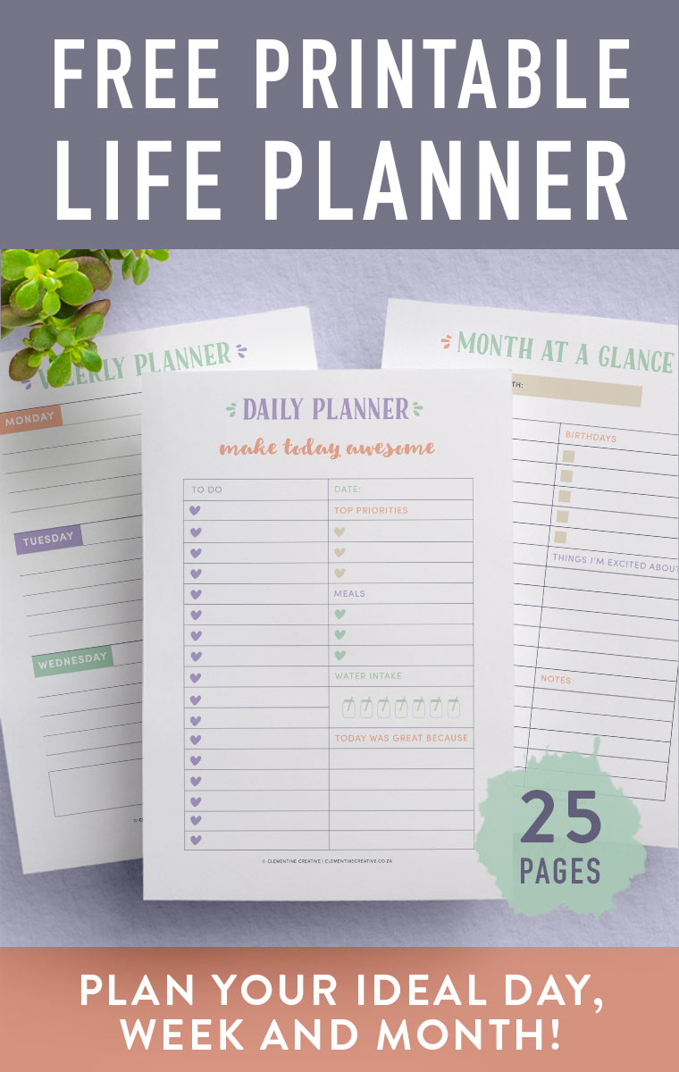 photo about Full Focus Planner Pdf identified as No cost Printable Everyday living Planner 25 Webpages That Will Assist By yourself Get hold of