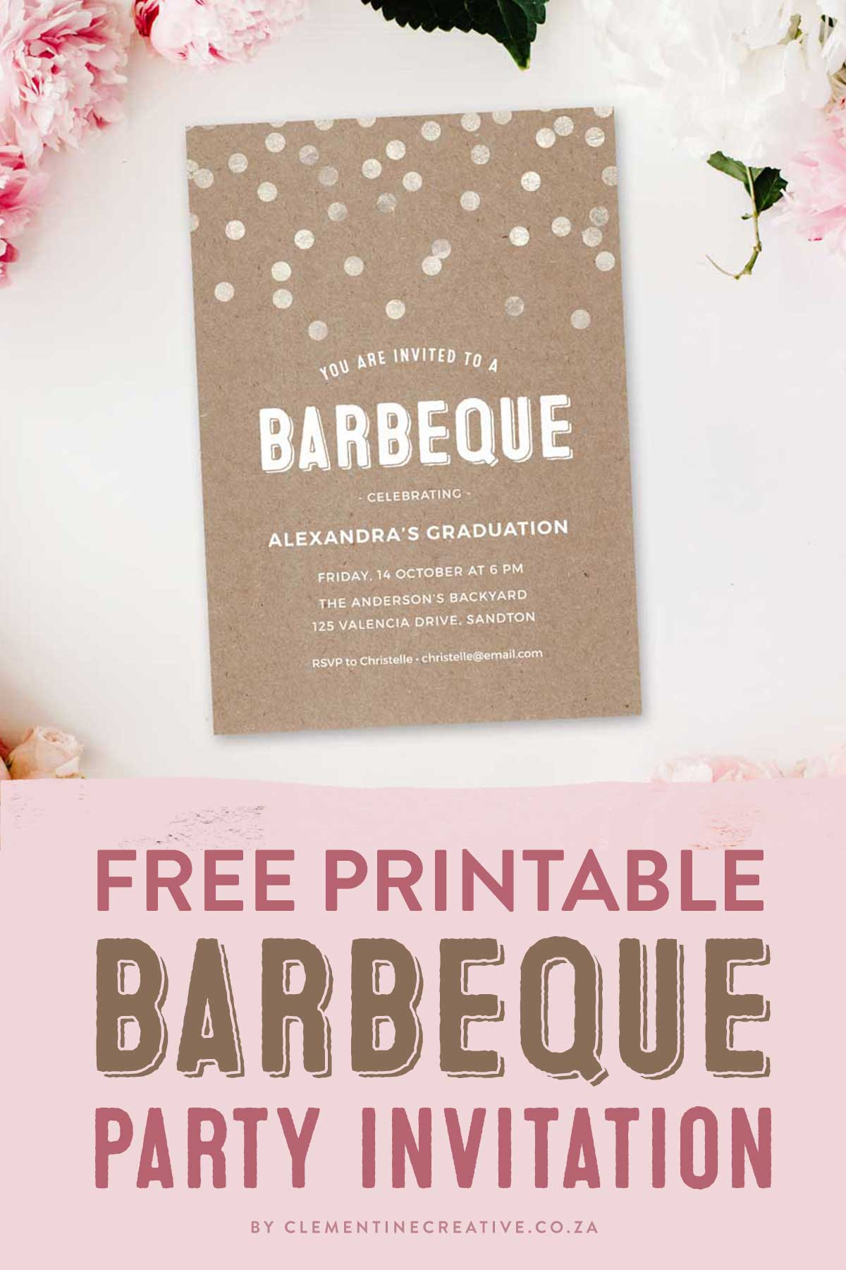 throw a stylish barbeque party with this gorgeous