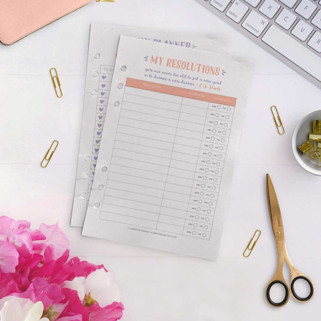 free printable resolutions tracker