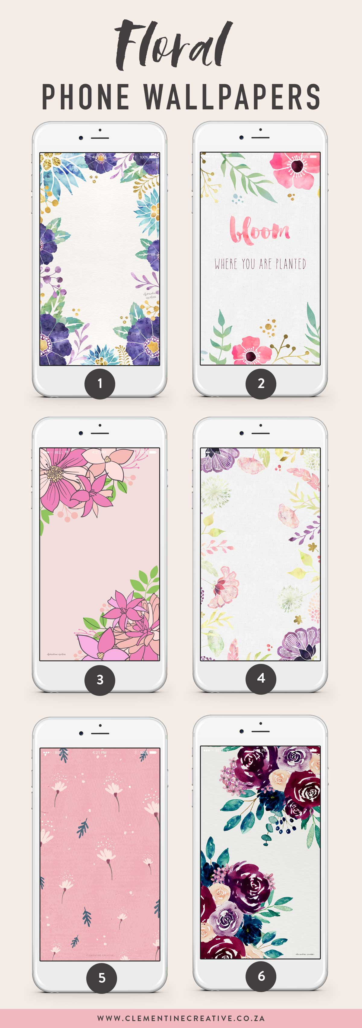floral phone wallpaper backgrounds