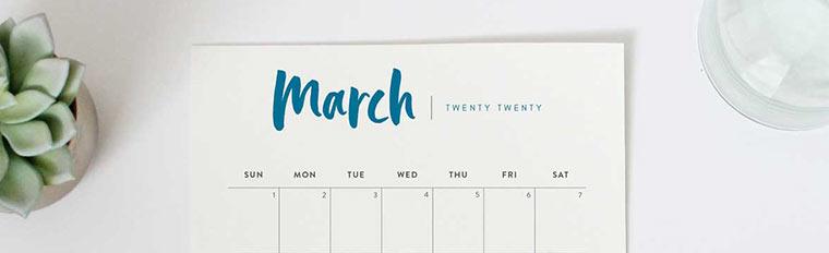 Printable 2020 Calendar A Pretty Monthly Calendar Planner