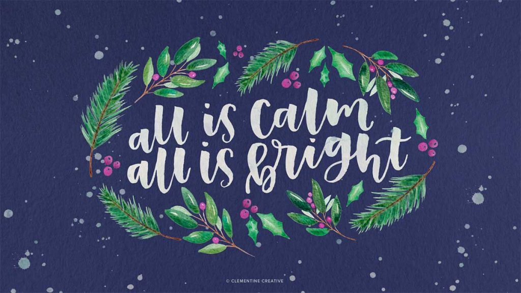 Free Cute Modern Christmas Wallpapers For Your Desktop And