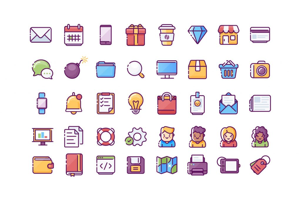 simple website icon kit