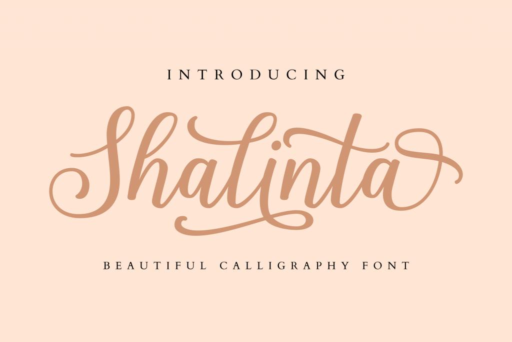beautiful calligraphy font